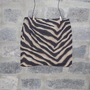 brown no waist tiger print mini skirt